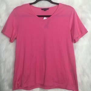 NWT Land's End Pink Scoop Neck Top Small Petite